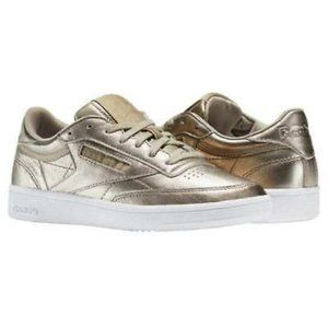Reebok Ladies classic Antique Gold Trainers Shoes